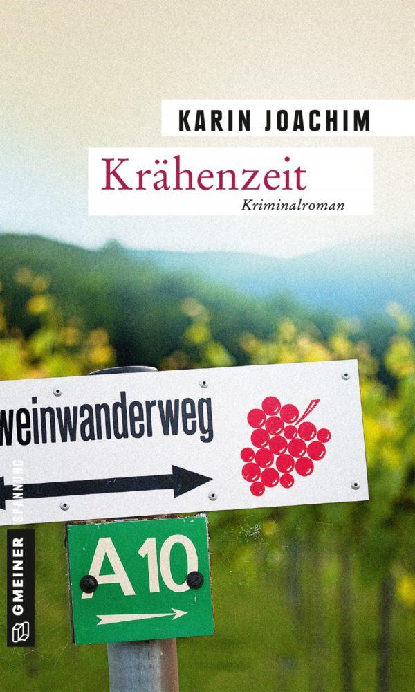 Buchcover, Weinberge, Rotweinwanderweg, Schild