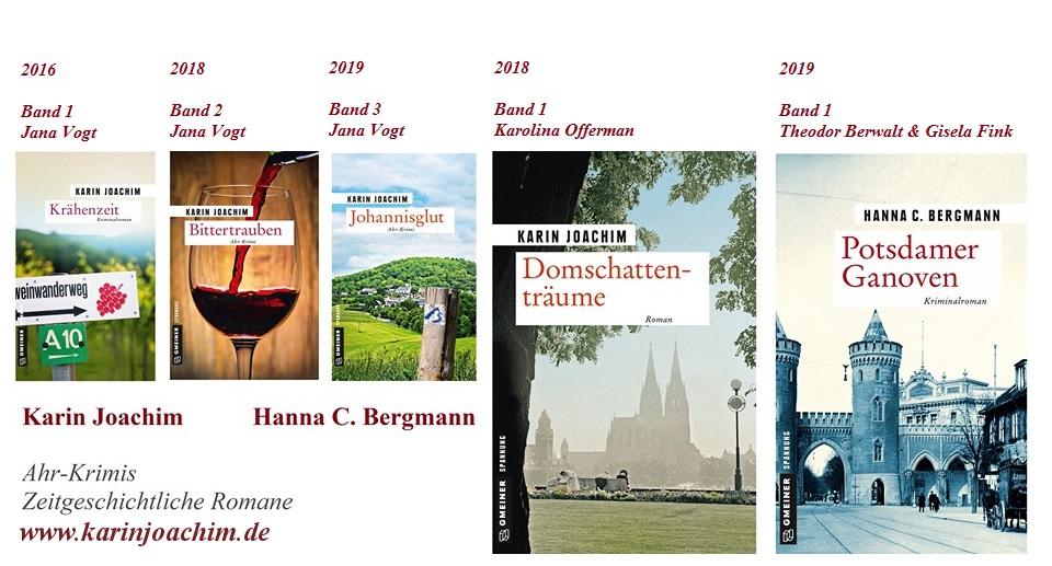 Romane von Karin Joachim/ Hanna C. Bergmann