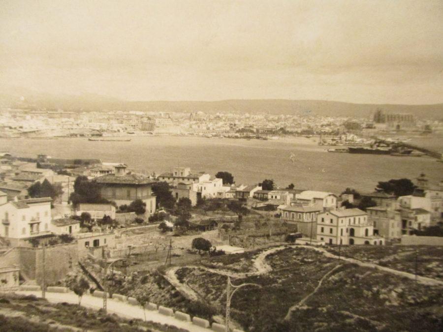 Palma de Mallorca auf einer alten Ansichtskarte